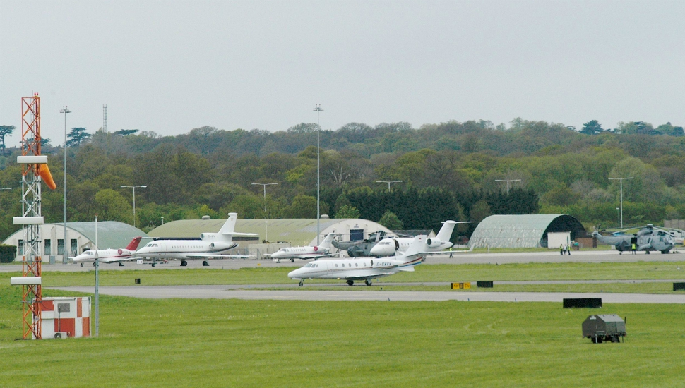 A chauffeur service that picks up from The runway at RAF Northolt