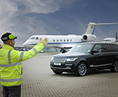 Chauffeur service from the runway